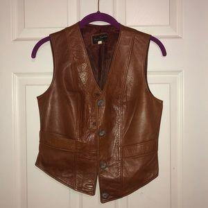Henri Fensteur leather skirt and vest